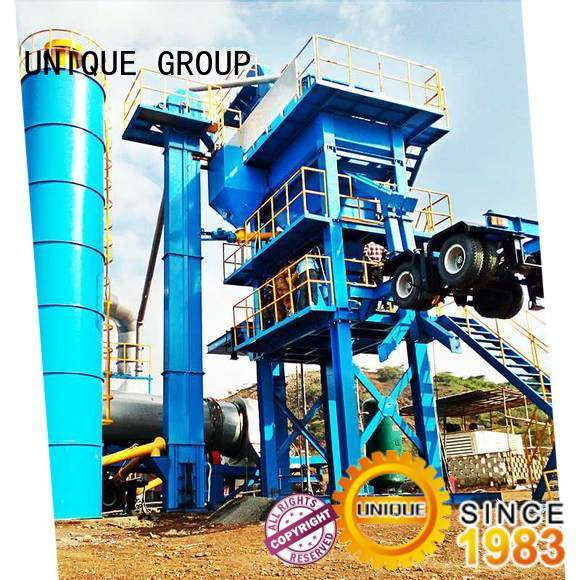 UNIQUE batch Asphalt Mixing Plant manufacturer for parking lot