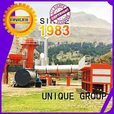 UNIQUE drum asphalt batch mix plant manufacturer