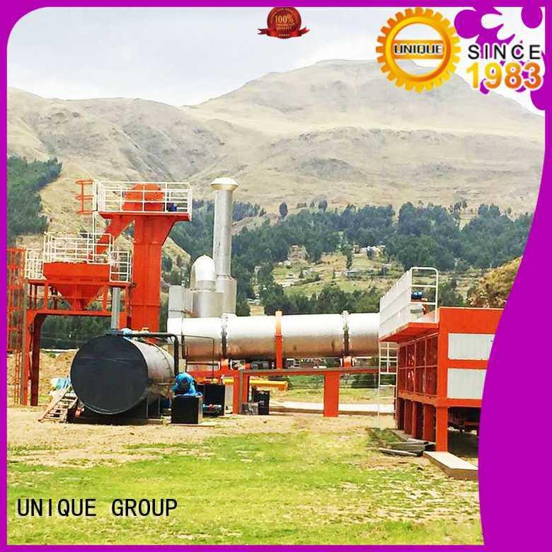 UNIQUE mobile asphalt plant manufacturer