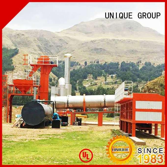 UNIQUE continuous asphalt concrete mixing plant manufacturer for parking lot
