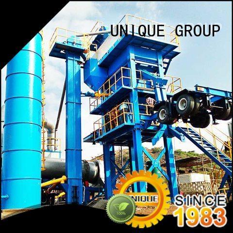 UNIQUE asphalt batch mix plant manufacturer