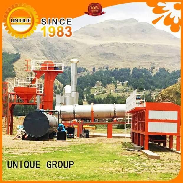 UNIQUE mixing asphalt batch mix plant manufacturer for parking lot