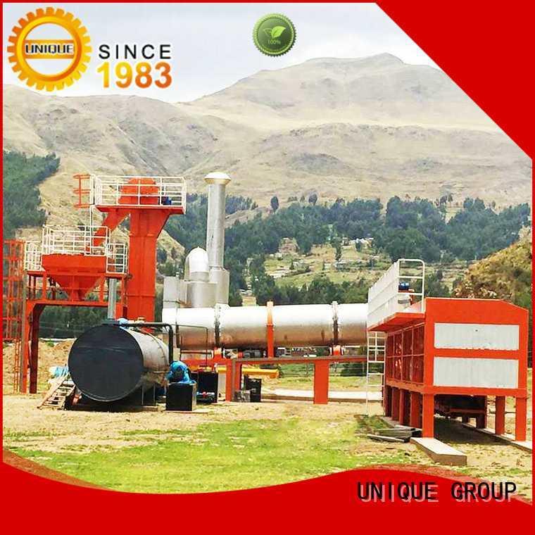 UNIQUE professional asphalt drum mix plant manufacturer for city road