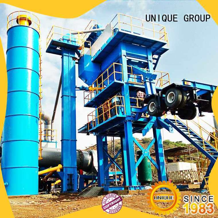 UNIQUE mobile Asphalt Mixing Plant factory price for parking lot